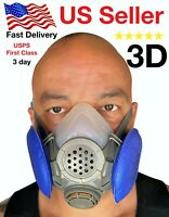 3D Half Face Respirator, Large or X Large BRAND NEW Respirator paint  Gas Mask