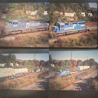 Original Slides x 4 Conrail Retired #3438 EMD SD40-2 Hauling Huge Load 2000s (b)