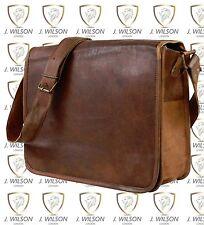 "Leather Handmade Designer J Wilson Bag Vintage Flapover 13"" Laptop Messenger"
