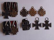 WK1 Orden Ordensspangen EK2 und sonstige Lot 8 teilig