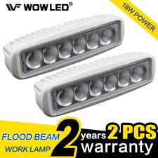 "2x 6"" 18W LED Light Bar Marine Lamp Offroad Driving Flood Reverse Boat Light 4x4"