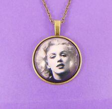 MARILYN MONROE NECKLACE rockabilly kitsch vintage retro chic 50s bronze pin up