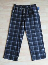 New Men's Croft & Barrow Fleece Pajama Lounge Pants Black & Gray Plaid Size XL