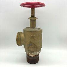 Vintage Wilson Amp Cousins Ie 23 2 12 Cast Brass Fire Suppression Pressure Valve