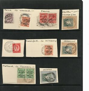 Ireland - Old Stamps and Postmarks - Letter F x 11