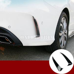 Black Rear Bumper Spoiler Air Vent Trim Cover For Benz C Class W205 C43 C63 AMG