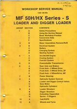 Massey Ferguson MF 50H/HX series S tractor loader backhoe workshop manual