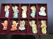 Set of 10 Hummel Angels Of Christmas Ornament Collection Goebel Danbury Mint