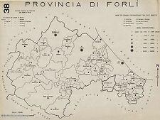 Provincia di Forlì: Tutti i Comuni nel 1938 + San Marino. Anno XVI Era Fascista