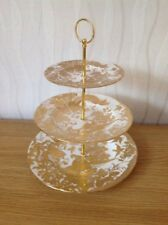 ROYAL CROWN DERBY 3 Tier Cake Stand 'Gold Aves' Excellent Condition - Luxury