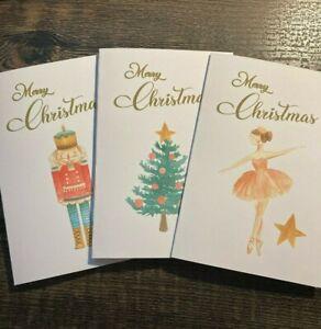 Pack 3 Handmade Merry Christmas Cards & Envelopes Merry Christmas/Holiday Season