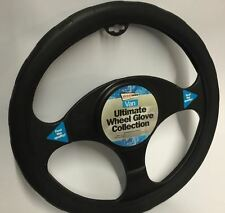 Land Rover Discovery Sport Black Chunky Soft Grip Steering Wheel Cover 39cm