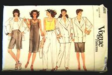 Pattern Jacket Dress Top Pants Shorts Vogue # 8922 Sz 18 Misses Petite Sewing FS
