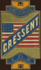 CYCLES VELO ORIGINAL CRESSENT L.G.A, drapeau U.S.A, en laiton peint