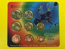 P10-4) España kms 2004 euro en el blister original, monedas de curso conjunto