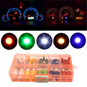 & Mixed Color 40Pcs T5 T10 LED 5050SMD Car Dashboard Instrument Indicator Lights