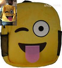 Mochila Bolsa smileywinking Amarillo emoji para los niños y la escuela