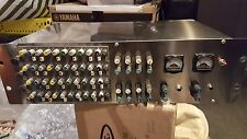 Calrec stereo eq x4 + Neve 10852 summing bus (8xstereo) racked with output VU