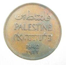 PALESTINE 1 MIL 1942 BRITISH MANDATE ISRAEL 16# BANK WORLD MONEY COIN