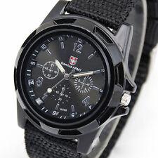 Men's Watch Wristwatch Sport Military Analog Army Quartz Canvas Strap Men Gift