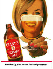"Vintage Sexist Beer Ad Photo Print 14 x 11"""