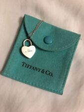 "Tiffany & Co. Naughty Nice Heart Lock Charm Pendant 16"" Necklace Sterling Silver"