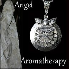 Essential Oil Diffuser Angel Heart Necklace Locket Aromatherapy US Seller
