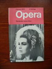 Opera magazine February 1970 (Vol.21 No.2) VGC