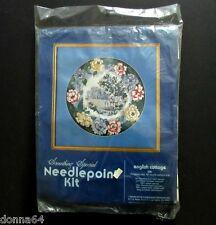 Vintage Candamar Needlepoint Kit English Garden Wool Yarn NOS