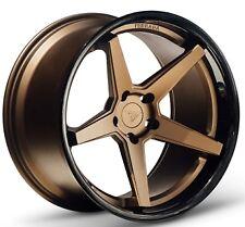 20x9/10.5 Ferrada FR3 5x114.3mm +35/38 Bronze Wheels Fits Nissan 300 350Z Is250