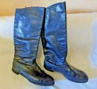 USSR officer leather chrome boots size 45(.US size 13)