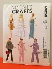 McCalls Crafts Pattern M6258 Barbie Sized