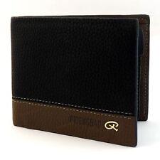 Para Hombre De Lujo suave de calidad de cuero cartera crédito tarjeta titular Bolso Negro ventana ID