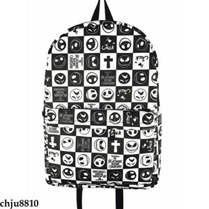 The Nightmare Before Christmas Schoolbag Zipper Backpack Fairy Tail Packsack