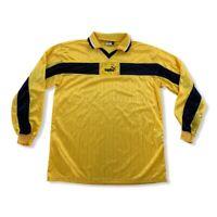 Vintage Puma 90er / 90s Trikot Rohling langarm GelbGr. XL jersey Shirt HO12