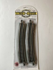 """Bachmann Easy Track System HO Scale #44503 22"""" Radius Curved Track 4 Piece Gray"""