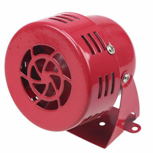Red Air Raid Siren Horn Car Truck Motorcycle Driven Alarm Factory School Loud
