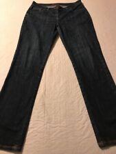Boden Women's Pants Distressed Straight Leg Stretch Blue Size 10 X 31