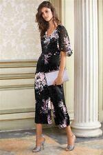 Next Black Floral Print Jumpsuit 14Tall