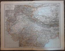 1900's colonial empire Cassell's world atlas sheet - India North