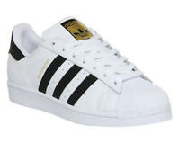 Mens Adidas Superstar 1 White Black Foundation Trainers Shoes
