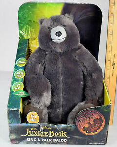The Jungle Book Baloo Sing and Talk Plush Bear Toy, Works, New in Blemished Box