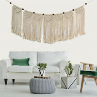 Wall Hanging Macrame Knitted Rope Woven Tassel Tapestry Handmade Bohemian Decor