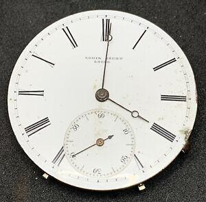 Jacot Locle Antique Swiss Pocket Watch Movement 36 Mm Hunter Ticking F5507