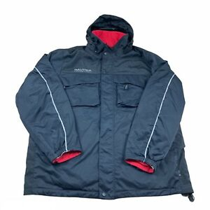 Nautica Reversible Coat Adult 2xl Black And Red Winter Jacket