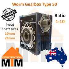 W Gearbox Worm Type 50 1:10 Ratio 10 Reduction Industrial Gear Box Drive