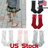 Baby Girls Knee High Bow Socks Toddlers School Stockings Lovely Princess Socks