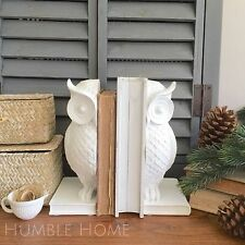 Set of White Owl Bookends/High Quality Book Ends/Great Gift Idea