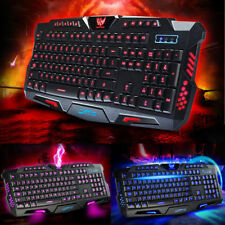 3 Colors Illuminated LED Backlight USB Wired Gaming Keyboard for PC Laptop Mac