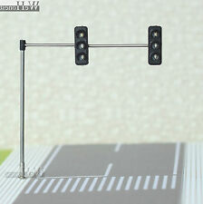 3 x HO / OO Traffic Light Signal LED Model Train crossing Street walk #4Left